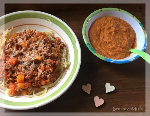 Spaghetti Bolognese Brei