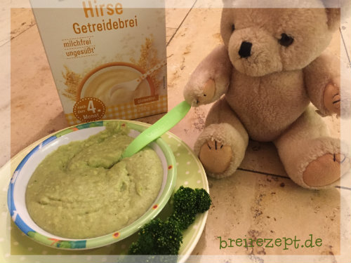 Herzhafter Hirsebrei mit Brokkoli und Hackfleisch
