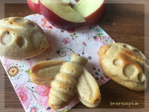 Kleine Apfelmusmuffins mit Zimt