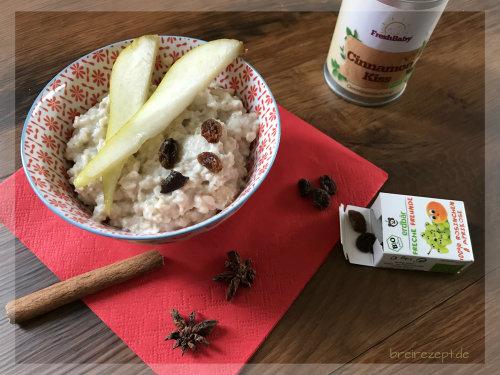 Haferbrei - Porridge mit Apfel