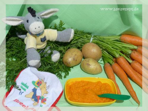 Möhren-Kartoffel-Rindfleisch-Brei