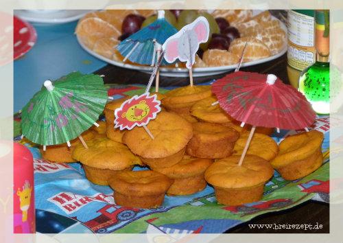 Kleine Kürbismuffins mit Vollkornmehl