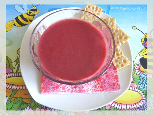 Beeren-Bananen-Suppe