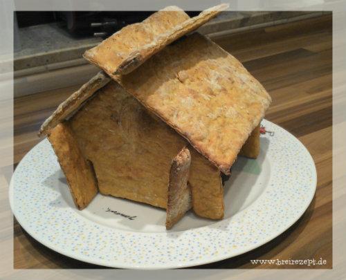 Lebkuchenhaus ohne Zucker für kleine Kinder