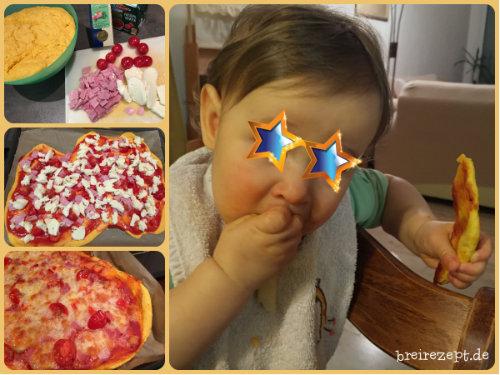Pizza für das Baby