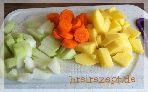 Breirezept Kohlrabi Möhren Brei Mit Kartoffeln Für Babys