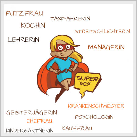 Super Mom Doppelbelastung Jobs