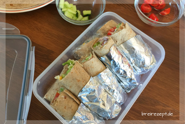 Wraps aus der Testoma Freshbox